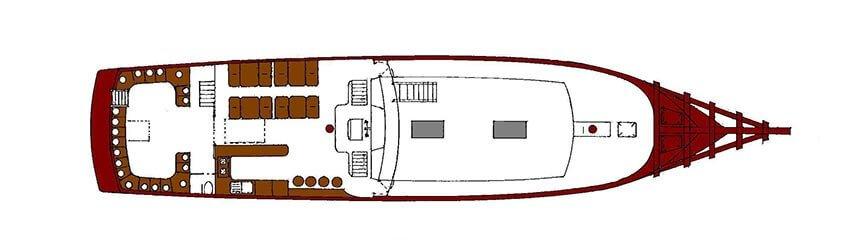 Diva Andaman Liveaboard Upper Deck Plan