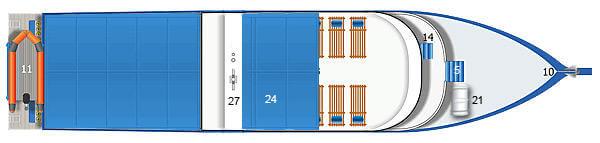 Dolphin Queen Liveaboard Sun Deck Plan