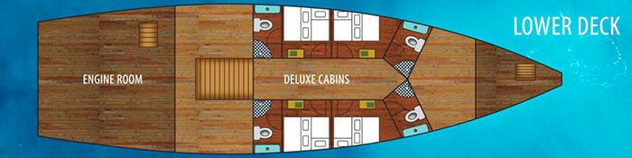La Galigo Liveaboard Lower Deck Plan