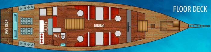 La Galigo Liveaboard Main Deck Plans