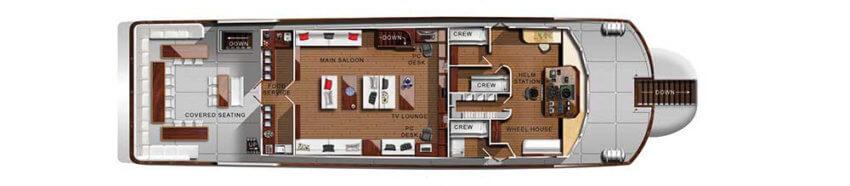 Sawasdee Fasai Liveaboard Upper Deck Plan
