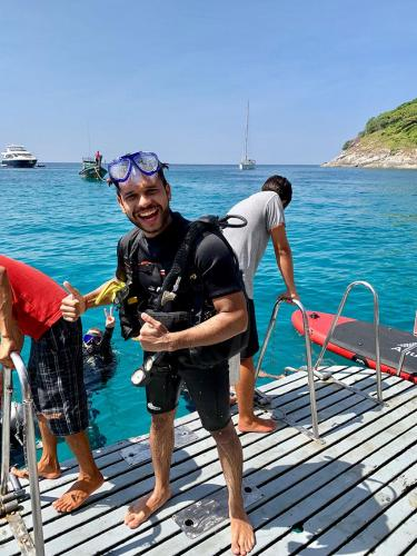 Happy Diver in Phuket Thailand